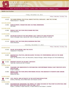 Part of the on-line program of the American Anthropological Association meetings in San Francisco, Nov 14-18, 2012.