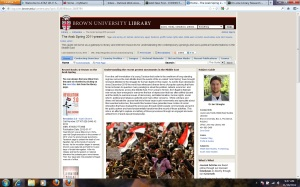 Brown University Library Guide to Arab Spring Resources